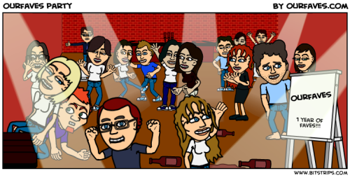 one of the fab strips of the people at our party by Jesse and Ba of Bitstrips